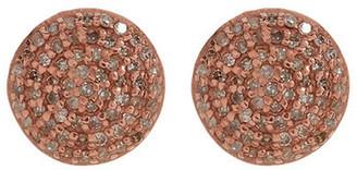 Adornia Fine Jewelry 14K Rose Gold Over Silver 1.00 Ct. Tw. Diamond Disc Studs