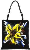 Prada Shoulder Bag In Nylon With Flower Print