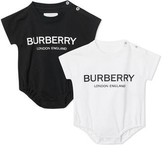 BURBERRY KIDS Logo Print Cotton Four-piece Baby Gift Set