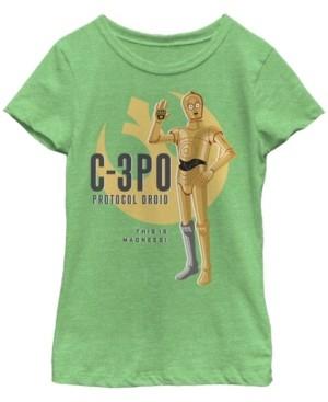 Fifth Sun Star Wars Big Girl's Galaxy of Adventures C-3PO Droid Wave B1 Short Sleeve T-Shirt