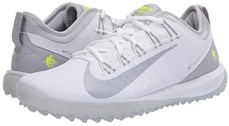 Nike Alpha Huarache 7 Pro Turf Lax (White/Wolf Grey) Men's Cleated Shoes