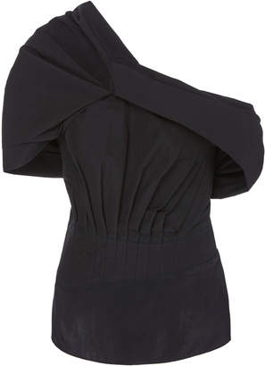 3.1 Phillip Lim Asymmetric Cold-Shoulder Puffed-Sleeve Top