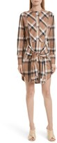 Derek Lam 10 Crosby Women's Plaid Tie Waist Dress