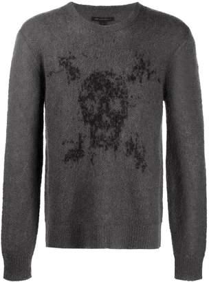 John Varvatos 'Skull' knitted jumper