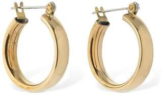 Laura Lombardi Mini Band Hollow Hoop Earrings