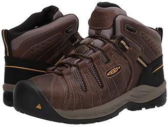Keen Flint II Mid Steel Toe (Cascade Brown/Golden Rod) Men's Work Boots