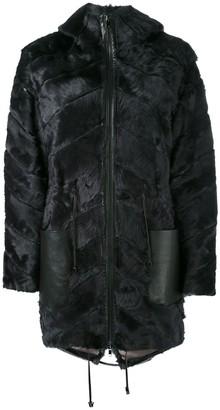 Liska Panel Hooded Coat