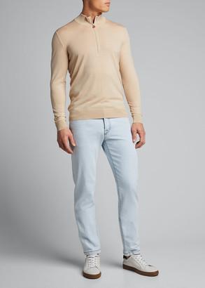 Kiton Men's Quarter-Zip Pullover Sweater