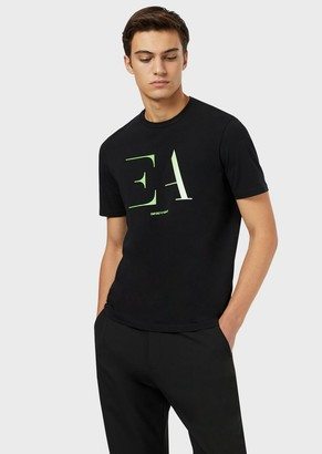 Emporio Armani Jersey T-Shirt With Stencil Logo