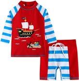 Vaenait Baby 2T-7T Infant Boys Rashguard swimsuit Set Marine Pirate M