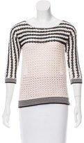 Sandro Crocheted Knit Sweater