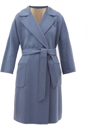Max Mara Balta Coat - Womens - Mid Blue