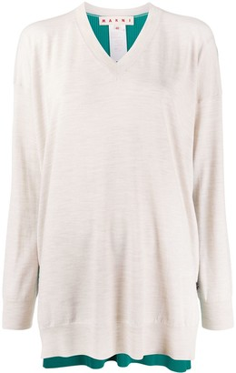 Marni Contrasting Back Panel Jumper
