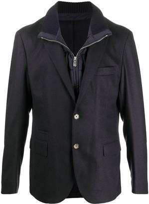 Eleventy Layered Single-Breasted Blazer