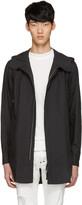 Diet Butcher Slim Skin Black Long Hooded Shirt