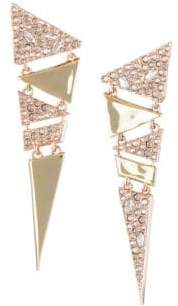 Alexis Bittar 10K Gold Crystal Triangle Earrings