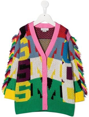 Stella Mccartney Kids Colour-Block Fringed Cardigan