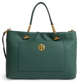 Tory Burch Chelsea Leather Satchel - Black