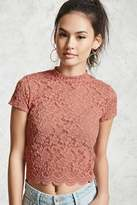 Forever 21 FOREVER 21+ Sheer Floral Lace Top