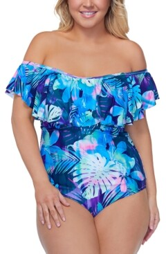 Raisins Curve Trendy Plus Size Vieques Tortuga One-Piece Swimsuit Women's Swimsuit