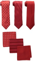 Stacy Adams 3-Pack Tie Assortment with Pocket Squares