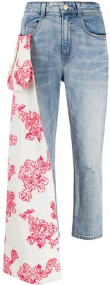 Hellessy Scarf Detail Cropped Jeans