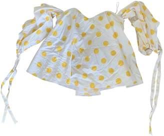 Caroline Constas Yellow Cotton Tops