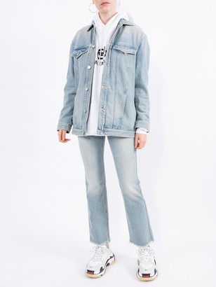 Givenchy Flared Distressed Light Blue Jeans