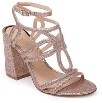 Badgley Mischka Shari Metallic Strappy Sandal