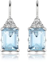 Tagliamonte Incanto Royale Aquamarine and Diamond 18K Gold Drop Earrings