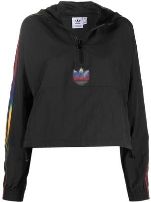 adidas Adicolour short zip hoodie