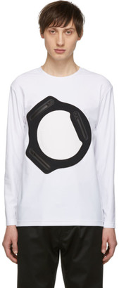 Fumito Ganryu White and Black Water-Resistant Pocket Long Sleeve T-Shirt