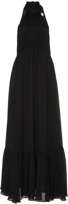 Zimmermann Ruffled Haltertop Silk Maxi Dress