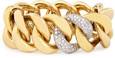 Rina Limor Fine Jewelry 18K Yellow Gold Stretch-Link Bracelet with Pavé Diamonds