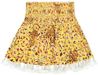 Poupette St Barth Kids Mara printed miniskirt