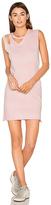LnA Double Cut Tank Dress in Pink