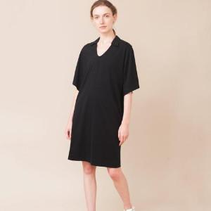 Beaumont Organic Black Luana Organic Cotton Dress - XS / Black / Organic Cotton - Black
