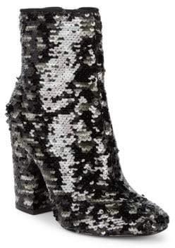 KENDALL + KYLIE Haedyn5 Sequin Block Heel Booties