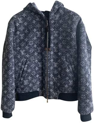 Louis Vuitton Blue Wool Knitwear