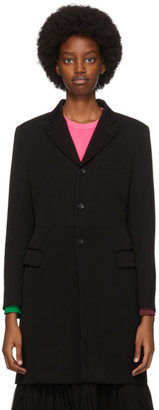 Comme des Garcons Black Wool Vented Coat