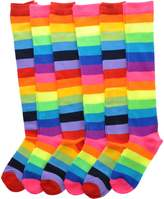 Angelina Rainbow Striped Knee High Socks, 6-Pair Lady's _9-11_6