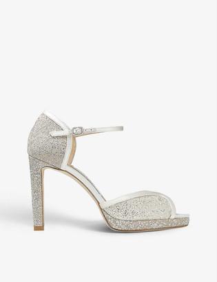 Jimmy Choo Lacia 100 glitter-tulle heeled sandals