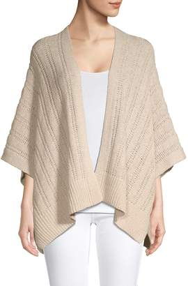 Jones New York Cable-Knit Open-Front Cardigan