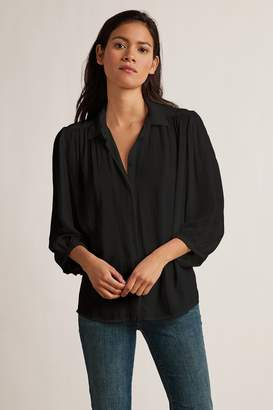 Velvet by Graham & Spencer PATRICIA RAYON CHALLIS 3/4 BUTTON UP BLOUSE
