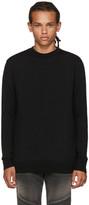 Balmain Black Zip Sweater
