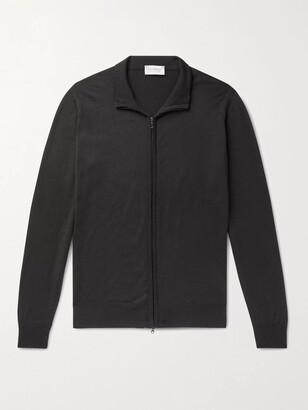 John Smedley Claygate Merino Wool Zip-Up Cardigan