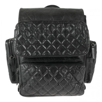 Chanel Black Leather Backpacks