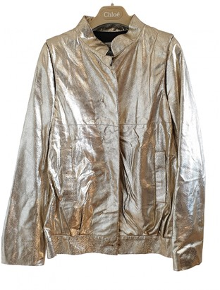 Chloé Gold Leather Jacket for Women