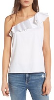 AG Jeans Women's The Risa One-Shoulder Ruffle Top