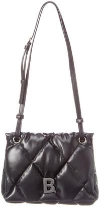 Balenciaga Torch Puffy Leather Shoulder Bag
